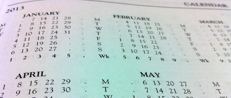 Calendar dates 2013