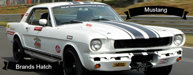 A classic mustang which you can drive and race on one of our track experience days.