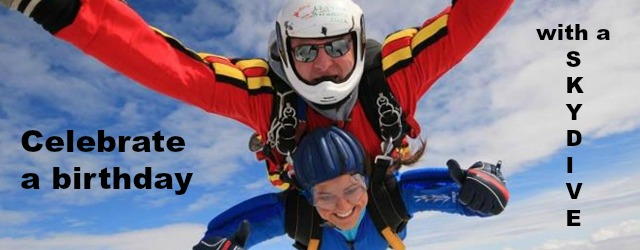 Skydiving is an excellent way to celebrate or mark any monumentous events - if you dare!
