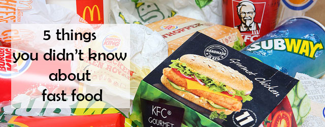 We take a look at the world of fast food and have a look at some fact you maybe didnt know about it.
