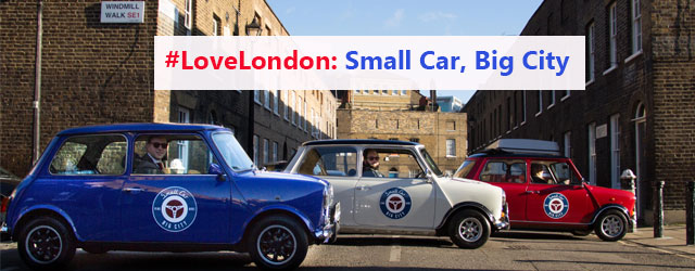 Explore Londin in one of smallcarBIGCITY Mini Coopers.