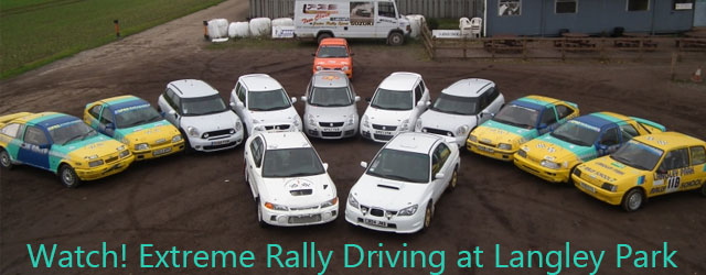 Experience some high adrenaline fun on this extreme rally driving day at Langley Park.