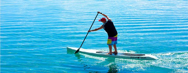 Paddleboarding adventurer Paul Hyman
