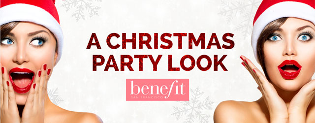 A Christmas party look from Benefit