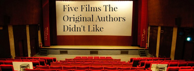 "A cinema screen bearing the words ""Five Films the Original Authors Didn't Like"""
