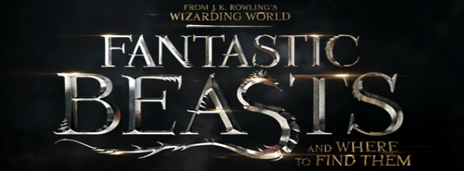 The logo for Fantastic Beasts and Where to Find Them by J.K Rowling