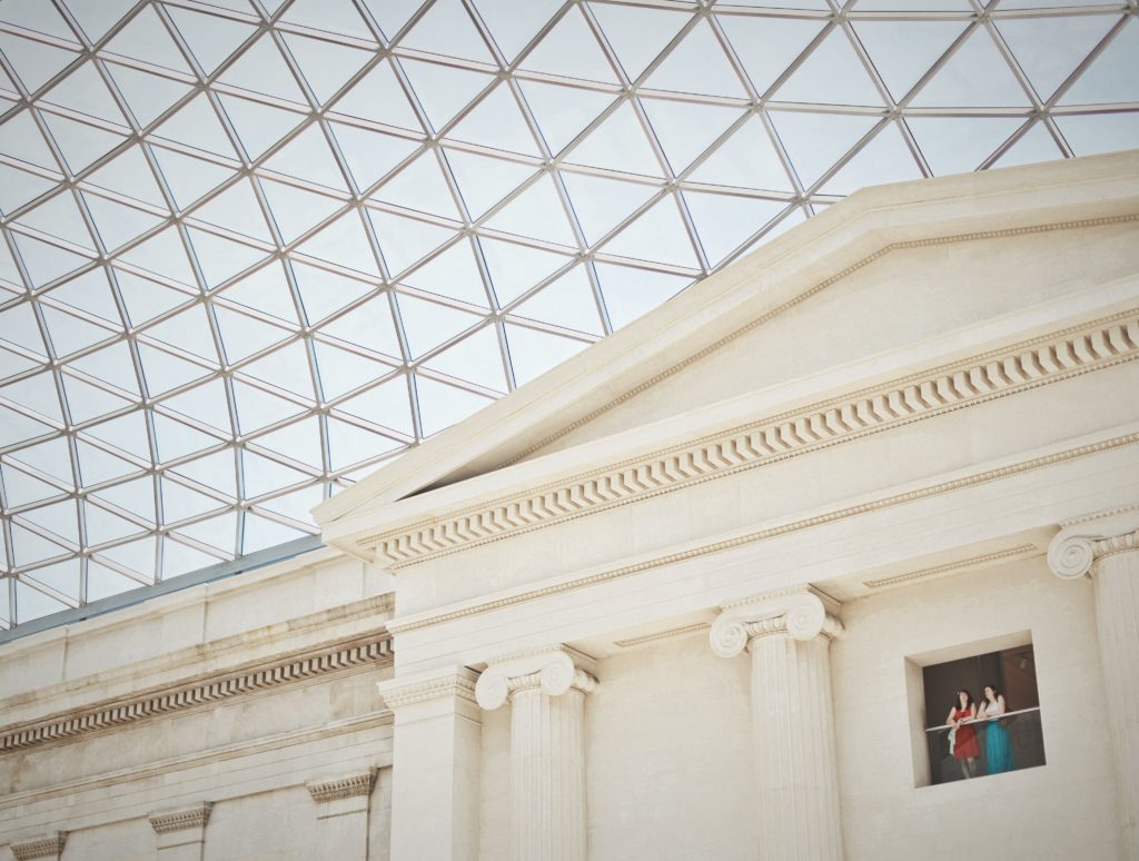 glass roof at the british museum