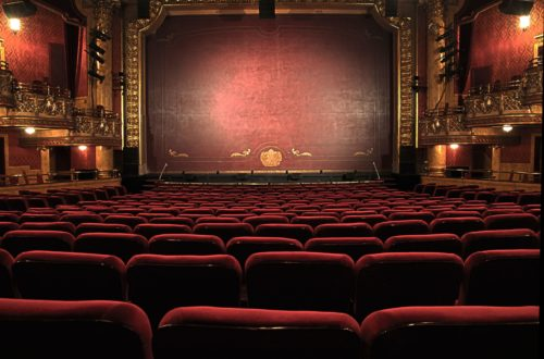 Empty stage and seats at the theatre