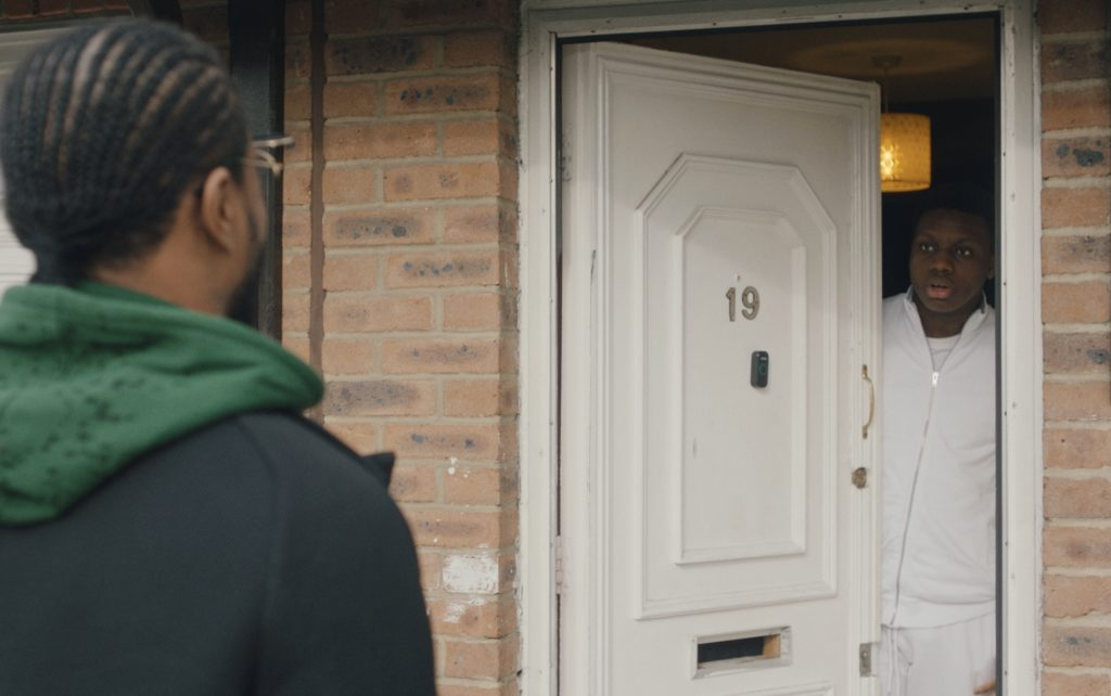 Patrice Evra surprising a young carer at his door