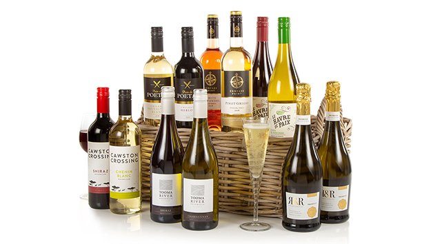 wines in a gift basket