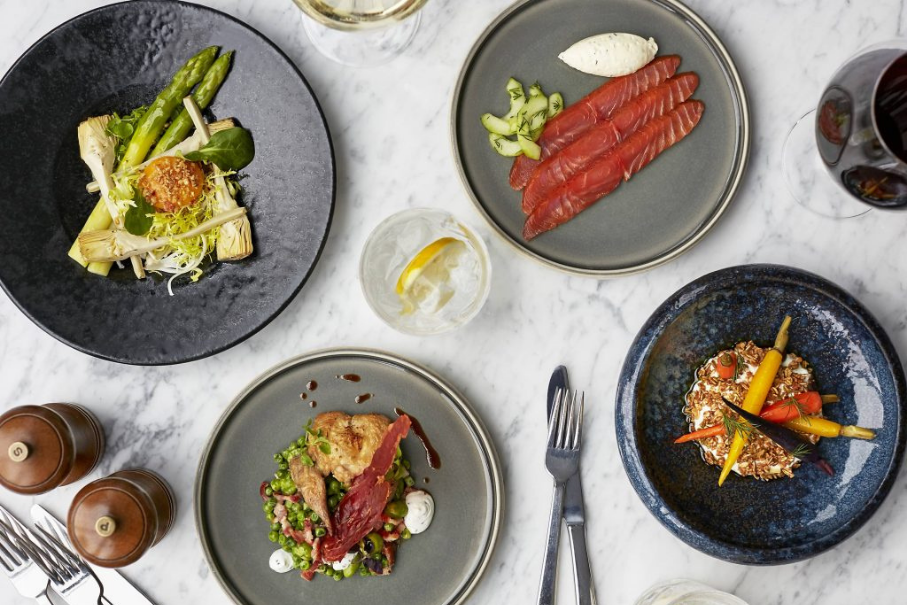 Selection of food at Searcys at the Gherkin