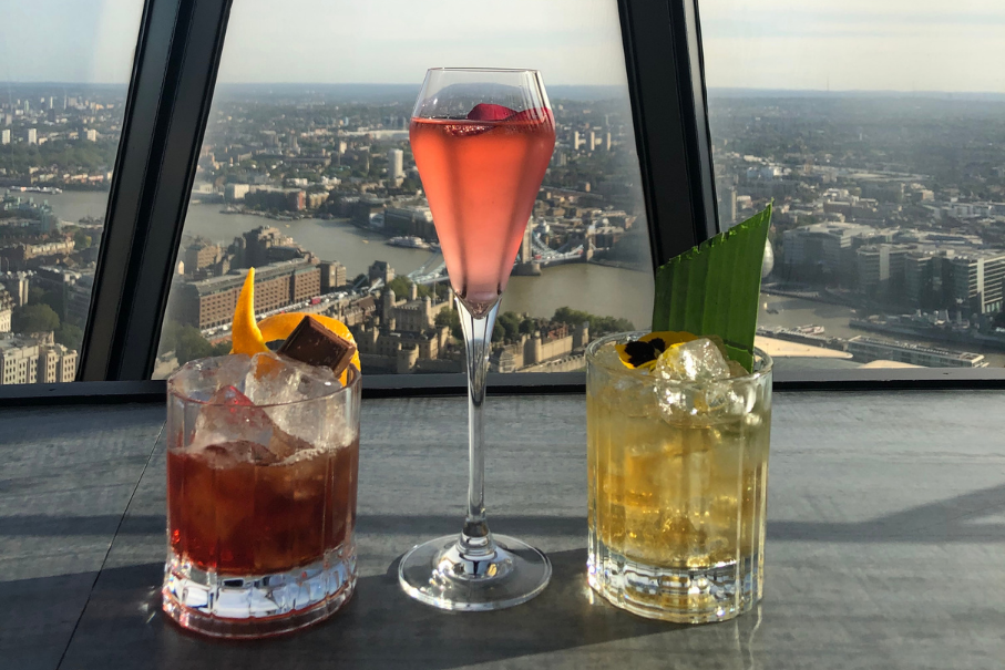 Cocktails at Searcys at the Gherkin