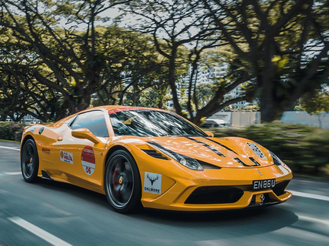 yellow supercar